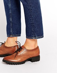 Park Lane Chunky Leather Brogues Tan