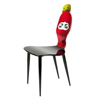 Fornasetti Lux Gstaad Chair Red