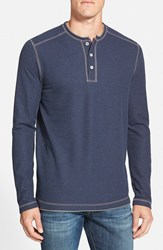 Men's Tommy Bahama 'Grand Thermal' Long Sleeve Henley Navy Heather