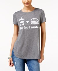 Ntd 2 Kuhl Juniors' Perfect Match Side Slit Graphic T Shirt Charcoal Mix