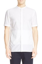 Men's Helmut Lang Band Collar Short Sleeve Shirt