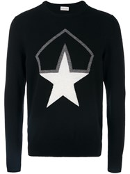 Moncler Star Logo Knit Sweater Black