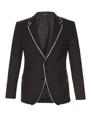 Alexander Mcqueen Notch Lapel Raw Edge Jacket Charcoal