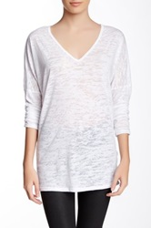 Go Couture Long Sleeve Burnout Tee White