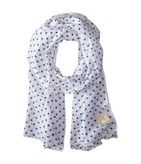 Scotch And Soda Printed Polka Dot Gentleman Scarf White Navy Scarves