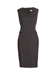 Altuzarra Nico Hairline Stripe Wool Blend Dress