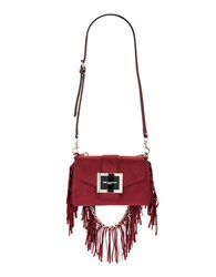 Karl Lagerfeld Jos Suede Shoulder Bag Bordeaux