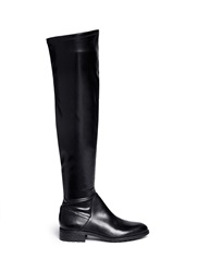 Sam Edelman 'Remi' Stretch Leather Thigh High Boots Black