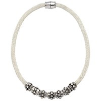 Adele Marie Mesh Rope Bead Necklace Silver