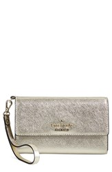 Kate Spade New York 'Cedar Street' Iphone 6 Leather Wristlet Metallic Gold