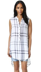 Rails Jules Tunic Vanilla Navy Plaid