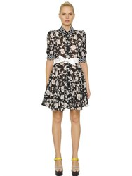 I'm Isola Marras Floral Printed Techno Fil Coupe Dress