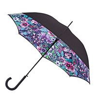 Fulton Bloomsbury Floral Haze Printed Umbrella Black Multi