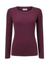 Eastex Cable Crew Neck Jumper Red