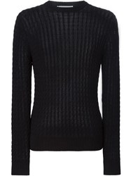 Ami Alexandre Mattiussi Cable Knit Sweater Black