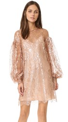 Zimmermann Lavish Lace Billow Tunic Dress Rose Gold