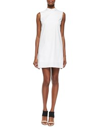 O'2nd David Sleeveless Collared Twill Dress White