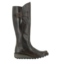 Fly London Mol Leather Knee High Boots Brown