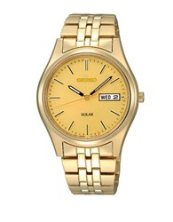 Seiko Mens Goldtone Functional Solar Watch
