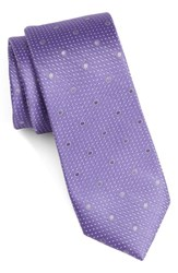 Calibrate Men's Dot Silk Tie Purple