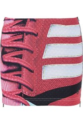 Adidas Originals Mary Katrantzou Charger Scuba Jersey Mini Skirt Red