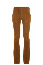 Frame Denim Le Flare Suede Trousers Brown