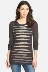 Nic Zoe 'Firelight' Linen Blend Crewneck Sweater Petite