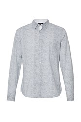 French Connection Daisy Hidden Contrast Flemming Shirt White