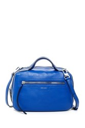 Karen Millen Sporty Collection Leather Bowler Satchel Blue