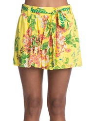 Plenty By Tracy Reese Floral Shorts Yellow