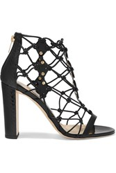 Jimmy Choo Tickle Studded Leather And Elaphe Sandals