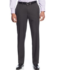 Haggar Straight Fit Eclo Mini Plaid Dress Pants Black