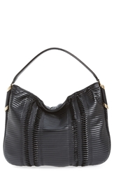 Jimmy Choo 'Zoe' Leather Hobo Black