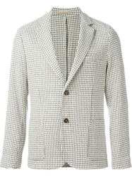 Eleventy Houndstooth Blazer Nude And Neutrals