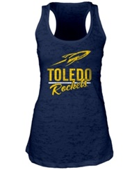 Blue 84 Women's Toledo Rockets Racerback Burnout Tank Top Navy