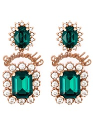 Mawi Emerald Word Crystal Earrings Green