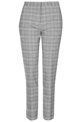 Topshop Premium Checked Suit Trousers Grey