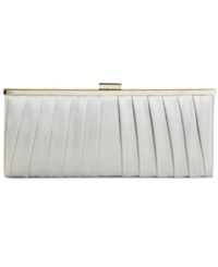 Style And Co. Carolyn Satin Clutch Silver