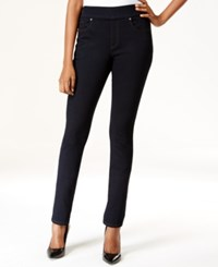 Styleandco. Style And Co. Petite Pull On Slim Straight Leg Jeans Rinse Wash Only At Macy's
