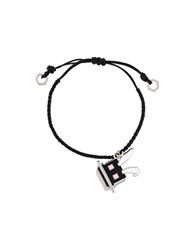 Mcq By Alexander Mcqueen 'Electro Bunny' Friendship Bracelet Black