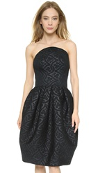 Zac Posen Embossed Bonded Dress Black
