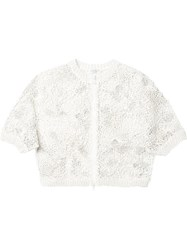 Brunello Cucinelli Cropped Knit Cardigan White