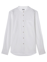 Jigsaw Slim Grandad Shirt White