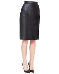Alexander Wang Accordion Pleated Leather Skirt