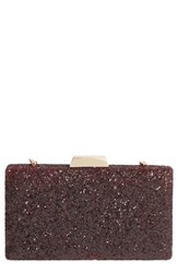 Sole Society Glitter Minaudiere Red