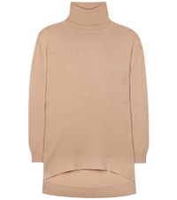 Balenciaga Wool And Cashmere Turtleneck Sweater Beige