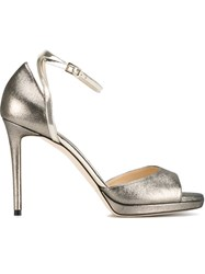 Jimmy Choo 'Pearl 100' Sandals Metallic