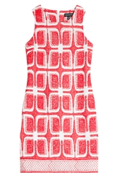 Ostwald Helgason Embroidered Shift Dress