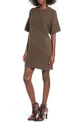 Astr Women's Ribbed Sweater Dress Olive
