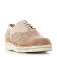 Dune Feathers Platform Brogues Blush